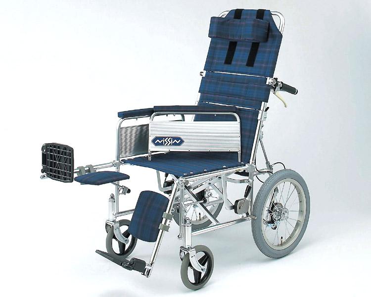 車椅子 軽量 アルミ介助式リクライニング車椅子 NA-118B 日進医療器(車椅子 車いす 車イス)