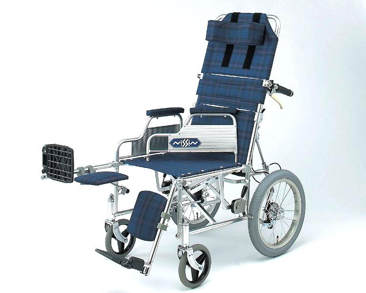 車椅子 軽量 アルミ介助式リクライニング車椅子 NA-118Bデスク 日進医療器(車椅子 車いす 車イス)