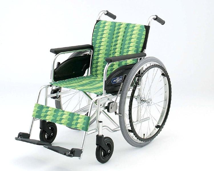 車椅子 軽量 アルミ自走式車椅子 NA-446AS  日進医療器(車椅子 車いす 車イス)