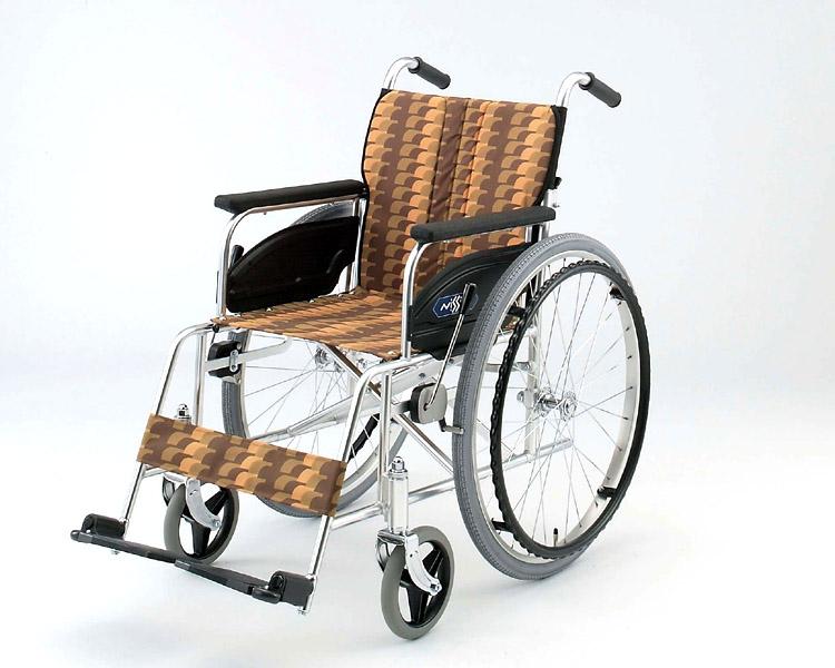 車椅子 軽量 アルミ自走式車椅子 NA-467A 日進医療器(車椅子 車いす 車イス)