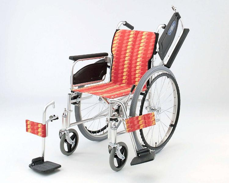 車椅子 軽量 アルミ自走式車椅子 NA-467W アームレスト跳ね上げ脚部開閉着脱 日進医療器(車椅子 車いす 車イス)
