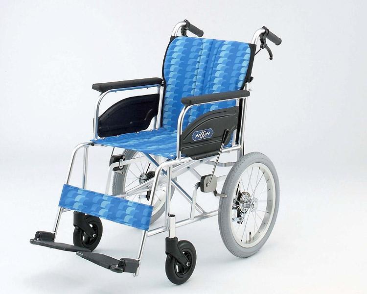 車椅子 軽量 アルミ介助式車椅子 NAH-446A 日進医療器(車椅子 車いす 車イス)