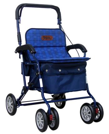 アルミ製シルバーカー PW-298  幸和製作所(手押し車 老人 ショッピングカート 4輪 老人 手押し 車 シルバー)(介護用品 歩行器 介護 高齢者 歩行器 シルバー)
