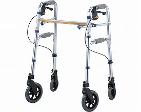 セーフティーアームVタイプウォーカー ミニ / SAVS イーストアイ 四輪歩行器(介護用品 歩行器 介護 高齢者 歩行器 シルバー)