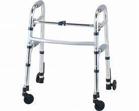 四輪歩行器 セーフティーアームウォーカー Mタイプ / SAWMSR シルバー ミニタイプ  イーストアイ(介護用品 歩行器 介護 高齢者 歩行器 シルバー)