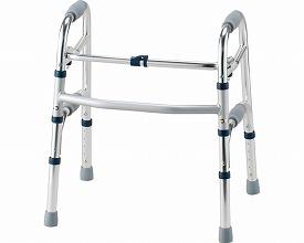セーフティーアームウォーカー ミニタイプ / SAWSR シルバー  イーストアイ 固定型歩行器(介護用品 歩行器 介護 高齢者 歩行器 シルバー)