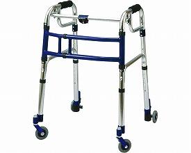 スライドフィット ロータイプ 室内専用 / L-0193C 3インチキャスター  ユーバ 四輪歩行器(介護用品 歩行器 介護 高齢者 歩行器 シルバー)