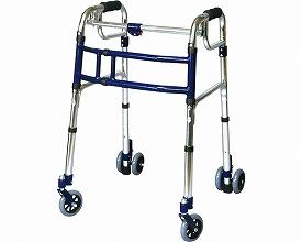 スライドフィット ハイタイプ 室内・屋外兼用 / H-0194W 4インチWキャスター  ユーバ 四輪歩行器(介護用品 歩行器 介護 高齢者 歩行器 シルバー)