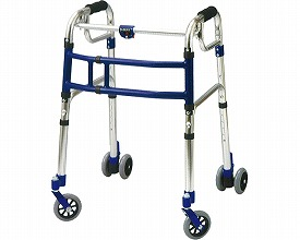 スライドフィット ロータイプ 室内・屋外兼用 / L-0194W 4インチWキャスター  ユーバ 四輪歩行器(介護用品 歩行器 介護 高齢者 歩行器 シルバー)