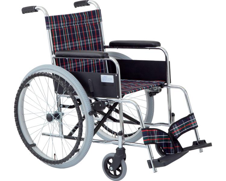 車椅子 自走式車いす リーズ ガートル掛け付(MW-22ST)美和商事(車椅子 車いす 車イス)