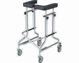 歩行器 / アルコー1S-T型 抵抗器付  星光医療器製作所 四輪歩行器(介護用品 歩行器 介護 高齢者 歩行器 シルバー)