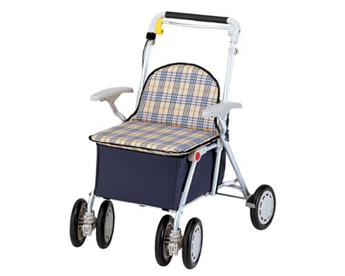 ヘルスバッグS / チェック 象印ベビー歩行器シルバーカーショッピングカート(介護用品 歩行器 介護 高齢者 歩行器 シルバー)