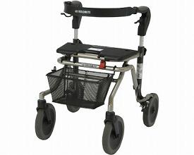 シルバー ウォーキー2 スローダウンブレーキ付 / 3080-505 Mサイズ ラックヘルスケア 歩行器 カーショッピングカート(介護用品 歩行器 介護 高齢者 歩行器 シルバー)