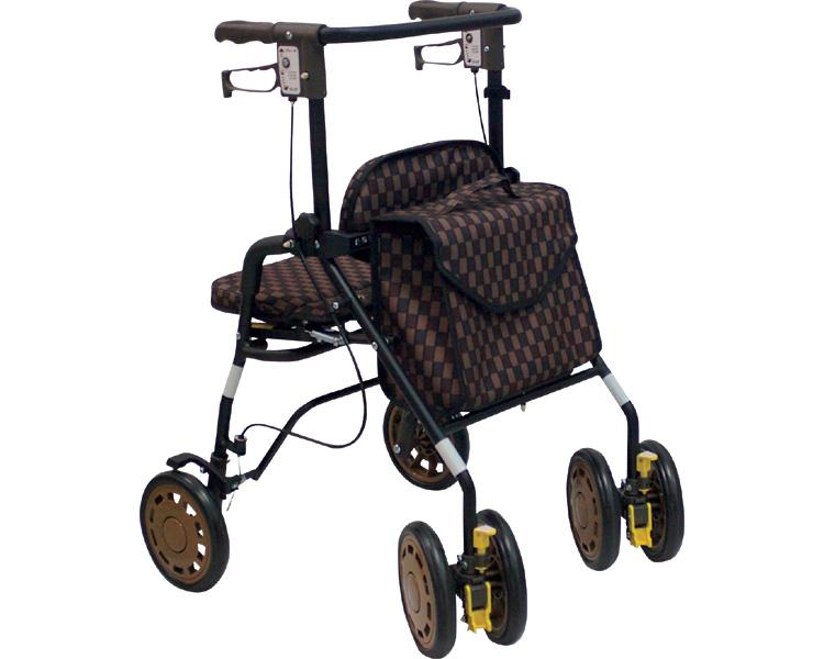 シンフォニー EVO 島製作所(手押し車 老人 ショッピングカート 4輪 老人 手押し 車 シルバー)(介護用品 歩行器 介護 高齢者 歩行器 シルバー)