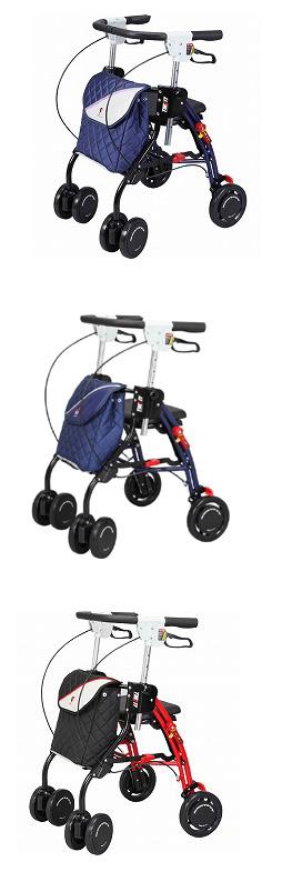 シルバーカー 送料無料 ザフィット TF-0438 ユーバ産業 歩行器 ショッピングカート