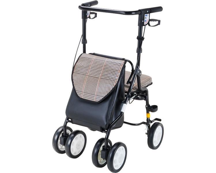 歩行車HOXY(ホクシー) マキライフテック(手押し車 老人 ショッピングカート 4輪 老人 手押し 車 シルバー)(介護用品 歩行器 介護 高齢者 歩行器 シルバー)