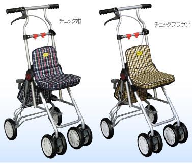 ポシェットS/No.671  睦三(手押し車 老人 ショッピングカート 4輪 老人 手押し 車 シルバー)(介護用品 歩行器 介護 高齢者 歩行器 シルバー)