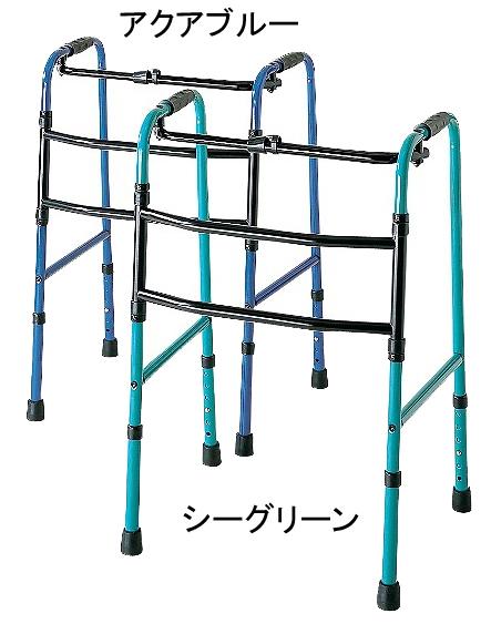 折りたたみ式交互歩行器 C2023 アクションジャパン(介護用品 歩行器 介護 高齢者 歩行器 シルバー)
