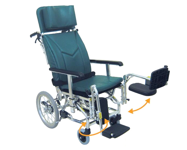リクライニング 車椅子 介助用ティルティング&リクライニング車椅子 KXL16-42EL エレベーティング仕様  カワムラサイクル (車椅子 車いす 車イス 折りたたみ)