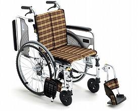 車椅子 軽量 アルミ製自走式車いす スキット4 SKT-4 ミキ(車椅子 車いす 車イス)
