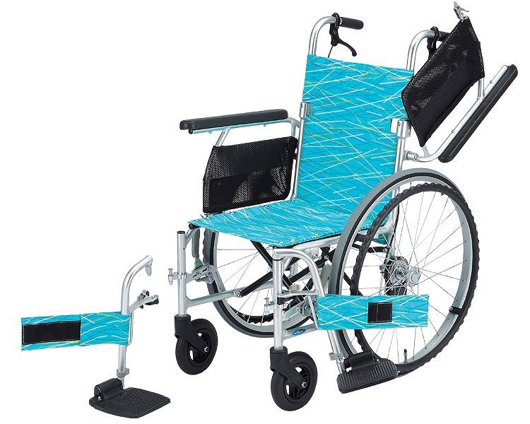 車椅子 軽量 アルミ自走式車いす NA-L8W 日進医療器(車椅子 車いす 車イス)