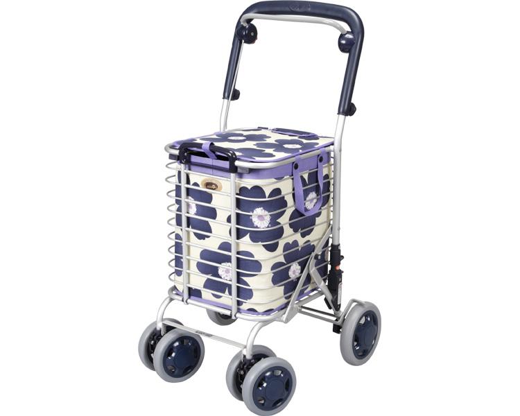 アルミワイヤーカート ブレーキ付 ユーバ産業(介護用品 歩行器 介護 高齢者 歩行器 シルバー)
