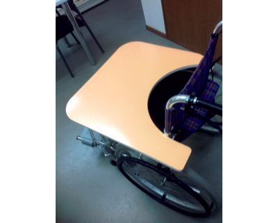 車いす用テーブル 送料無料 いいともパレット 右マヒ用タイプ / NU-EP-R【ユーキトレーディング】【smtb-kd】