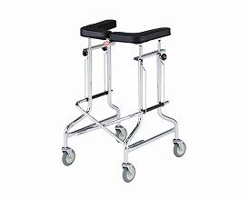 歩行器 介護 折りたたみ歩行器 アルコー1S型 四輪歩行器(介護用品 歩行器 介護 高齢者 歩行器 シルバー)