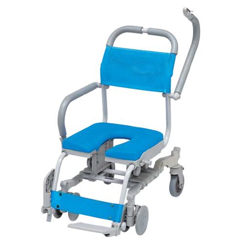 シャワーラク 入浴 4輪自在 SWR-132 U型シートタイプ シャワー用 車椅子 smtb-K シャワーキャリー RCP ウチヱ