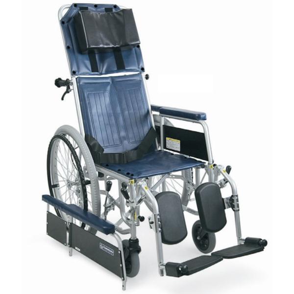 カワムラサイクルスチール製フルリクライニング自走用車椅子 限定価格セール リクライニング 車椅子 スチール製フルリクライニング自走用車椅子 RR42-NB 車イス 車いす 折りたたみ 35%OFF カワムラサイクル