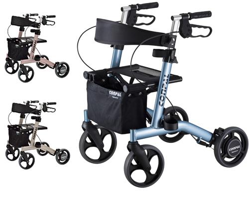 コンパル 歩行器 抑速ブレーキ付歩行車 CONPAL(コンパル) NCR-8A-MA ナブテスコ (介護用品 歩行器 介護 介護用 高齢者 歩行器)