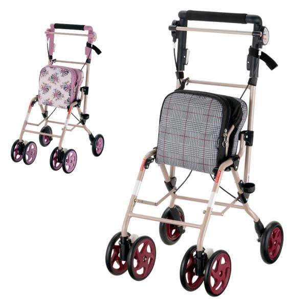 シルバーカー 軽量 アルキュート UL(手押し車 老人 ショッピングカート 4輪 老人 手押し 車 シルバー)(介護用品 歩行器 介護 高齢者 歩行器 シルバー)