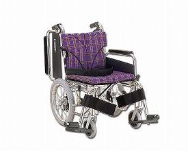 車椅子 軽量 アルミ介助用車いす 簡易モジュール KA816-38・40・42B-M 中床タイプ  カワムラサイクル (車椅子 車いす 車イス 折りたたみ)
