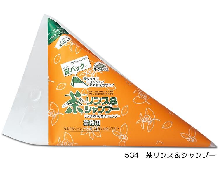 業務用詰替え 座・パック 茶リンス&シャンプー 2L/534 2L×8袋 【フタバ化学☆★】