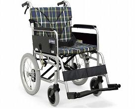 車椅子 軽量 アルミ製介助用車いす BM16-45SB-M  カワムラサイクル (車椅子 車いす 車イス 折りたたみ)