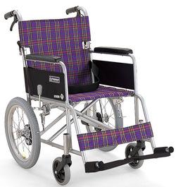 アルミ介助用車いす KA402SB  カワムラサイクル (車椅子 車イス)