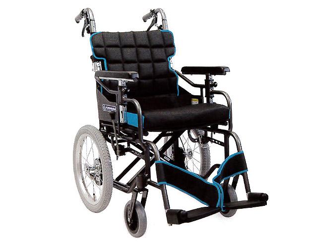 車椅子 送料無料 介助用モジュール車いす KM16-40・42SB-M 中床タイプ  カワムラサイクル (車椅子 車いす 車イス 折りたたみ)