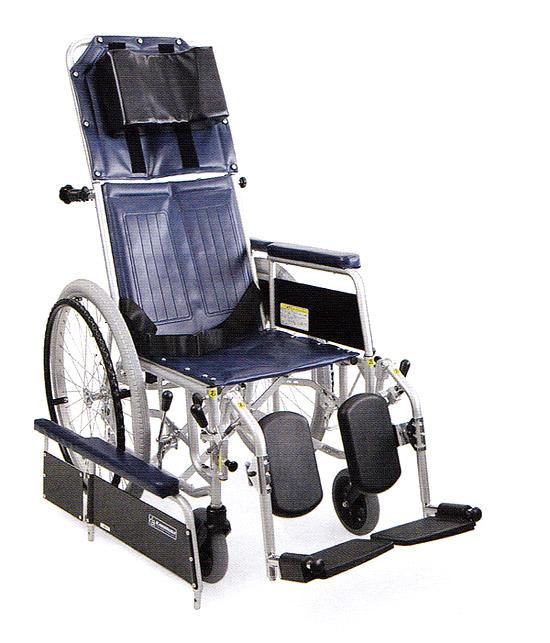 リクライニング 車椅子 スチール製フルリクライニング自走用車椅子 RR42-N  カワムラサイクル (車椅子 車いす 車イス 折りたたみ)