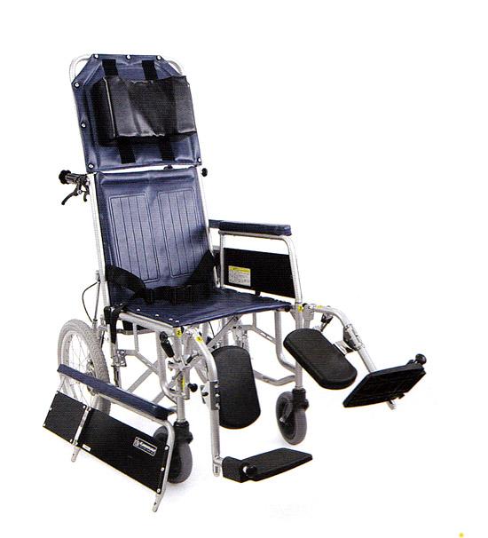 リクライニング 車椅子 スチール製フルリクライニング介助用車椅子 RR43-NB【カワムラサイクル】【smtb-KD】