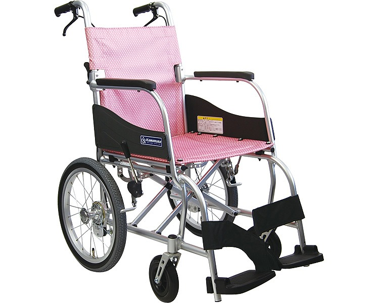 車椅子 軽量 介助用車いす ふわりす KF16-40SB カワムラサイクル (車椅子 車いす 車イス 折りたたみ)