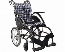 車椅子 軽量 アルミ介助式車いす WAVit(ウェイビット) WA16-40・42S ソフトタイヤ仕様 カワムラサイクル (車椅子 車いす 車イス 折りたたみ)