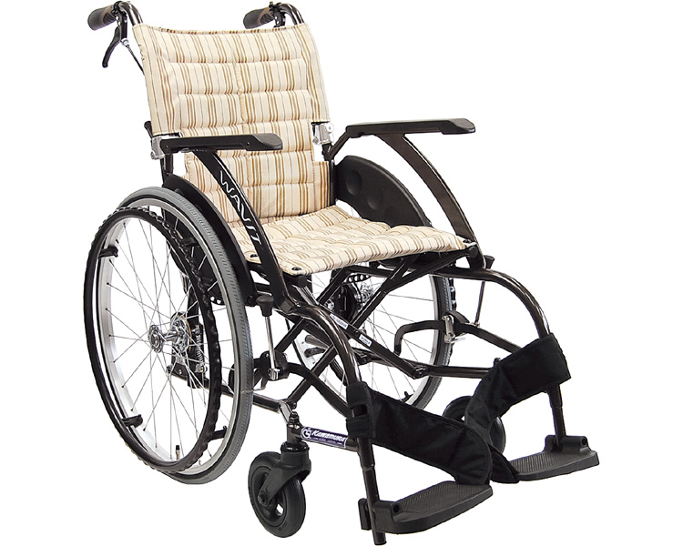 車椅子 軽量 アルミ自走式車いす WAVit(ウェイビット) WA22-40・42A エアタイヤ仕様 カワムラサイクル (車椅子 車いす 車イス 折りたたみ)