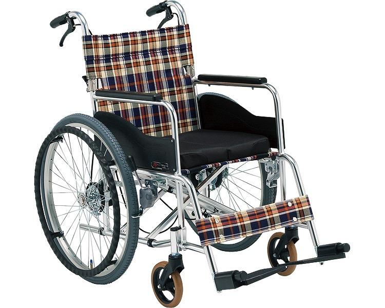 車椅子 車いす 車イス 送料無料 自走用立ち止まり君付車いす(低床タイプ) AR-211BT 松永製作所(車椅子 車いす 車イス)