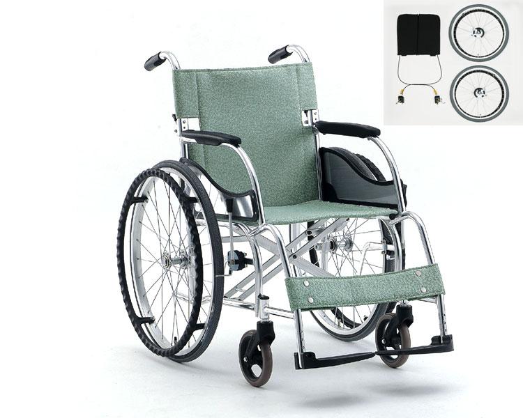 車椅子 軽量 アルミ製自走用車椅子立ち止まり君付車椅子(超軽量基本タイプ) MW-SL11BT 松永製作所(車椅子 車いす 車イス)