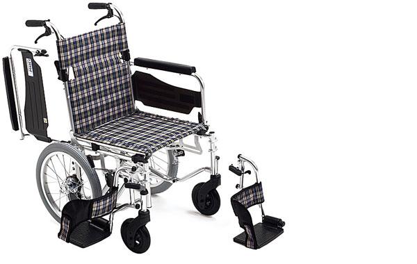 車椅子 軽量 アルミ介助式車椅子 AWSC-3  ミキ(車椅子 車いす 車イス)