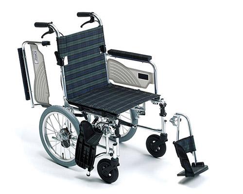 車椅子 軽量 アルミ介助式車椅子 LSC-43RD (介助用ブレーキ付) ライトストリーム  ミキ(車椅子 車いす 車イス)
