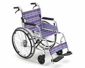車椅子 軽量 アルミ自走用車いす M-43SK SP   ミキ(車椅子 車いす 車イス)