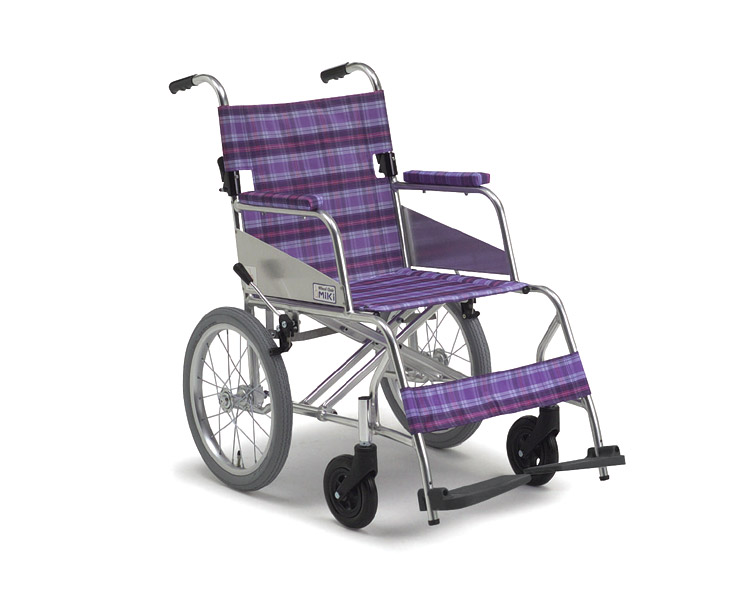 車椅子 軽量 アルミ介助式車椅子 MC-43SKニューライト超・超軽量  ミキ(車椅子 車いす 車イス)