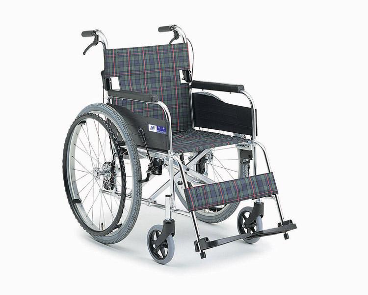 車椅子 軽量 アルミ自走式車椅子 MPN-40JD  ミキ(車椅子 車いす 車イス)
