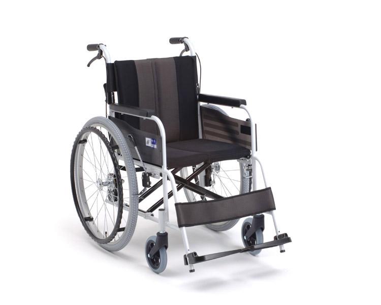 車椅子 軽量 アルミ自走式車椅子 MPN-43JD HG  ミキ(車椅子 車いす 車イス)